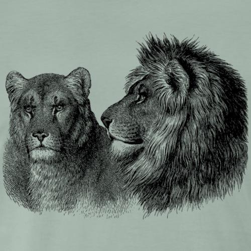 Löwenpaar - Männer Premium T-Shirt