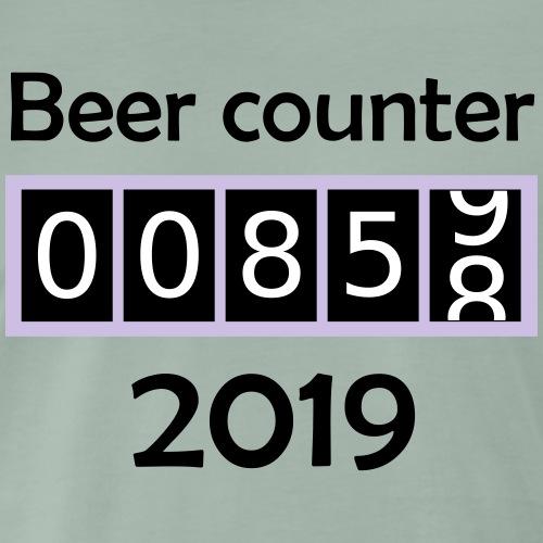 Bier counter / Bier zähler 2019 Englisch - Männer Premium T-Shirt