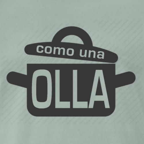 Como una olla. Camiseta gris con logo casi negro - Camiseta premium hombre