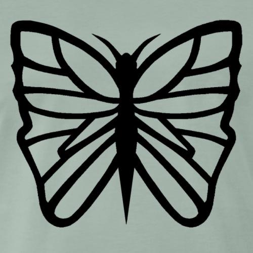 Avancerat fjärilsmotiv. - Premium-T-shirt herr