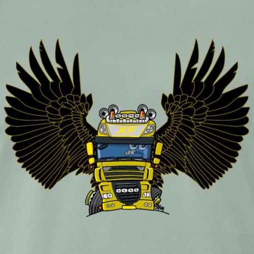 0793 D truck wings geel - Mannen Premium T-shirt