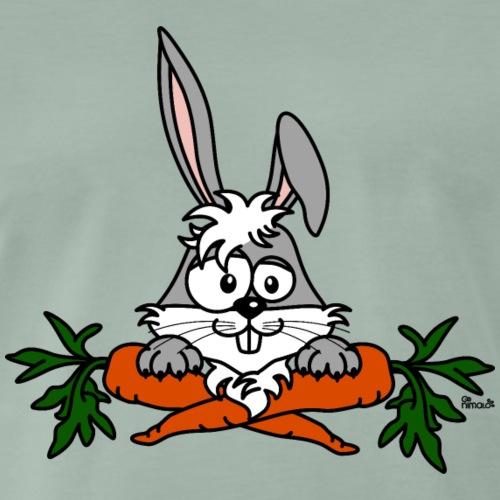 Lapin avec carottes, végétarien, végan - T-shirt Premium Homme