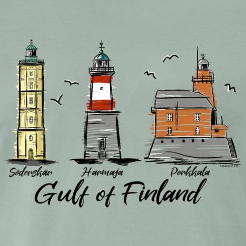 Söderskär, Harmaja, Porkkala Majakkatuotteet Shop - Miesten premium t-paita