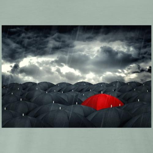 Der rote Regenschirm - Männer Premium T-Shirt