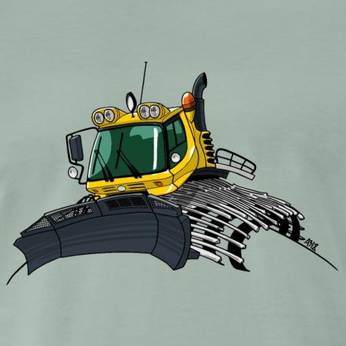 gele sneeuwschuiver new - Mannen Premium T-shirt