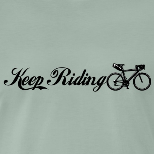Keep Riding Bikepacking - T-shirt Premium Homme
