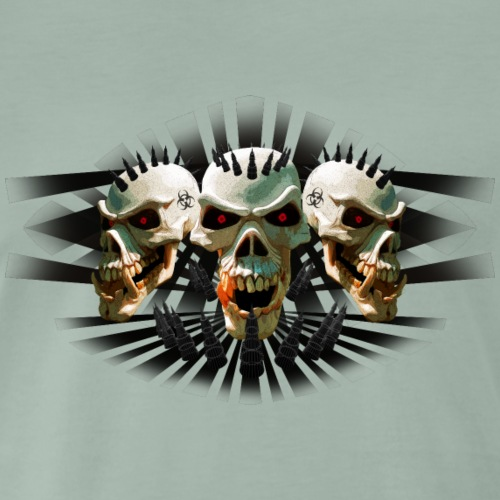 skulls punk - Men's Premium T-Shirt