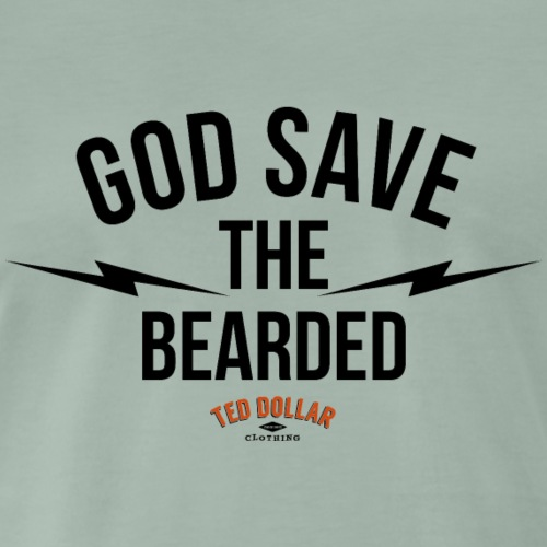God save the bearded - T-shirt Premium Homme