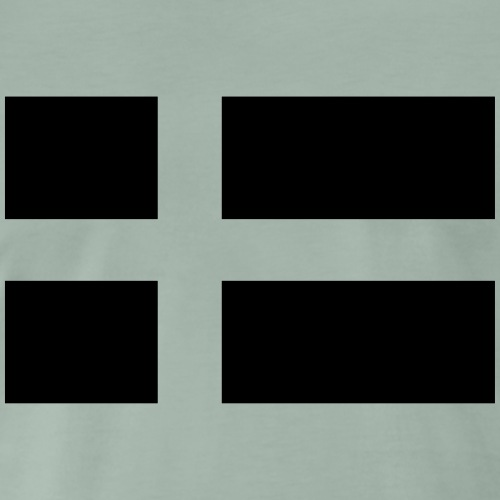 Swedish/Danish Tactical flag Subdued Black/White - Premium-T-shirt herr