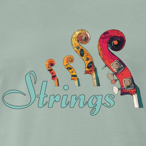 strings1 1 - Männer Premium T-Shirt