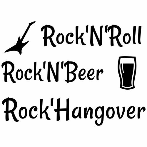 Rock'N'Roll, Bière et Gueule de bois - T-shirt Premium Homme