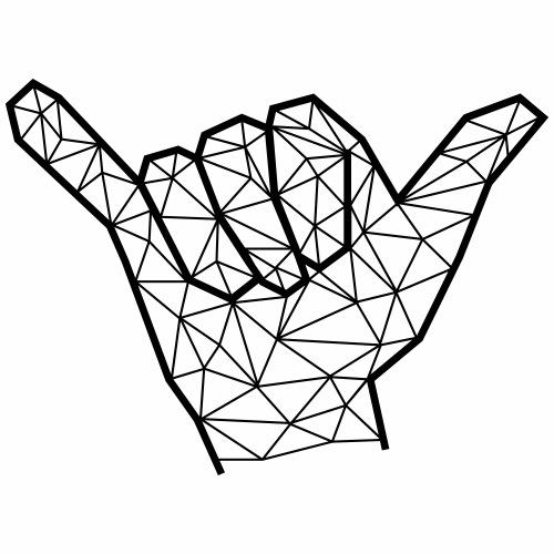 main shaka surf géométrique - T-shirt Premium Homme