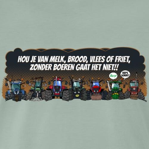 ZONDER BOEREN GAAT HET NIET (landscape) - Mannen Premium T-shirt