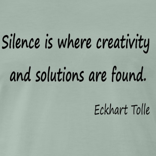 Silence and Creativity - Men's Premium T-Shirt