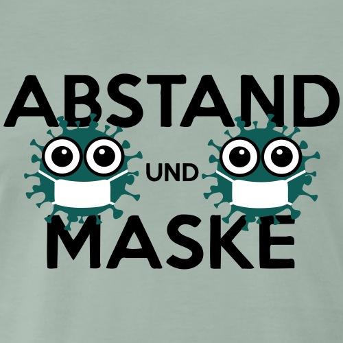 Mit Abstand und Maske gegen CORONA Virus - schwarz - Männer Premium T-Shirt