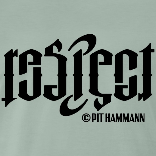Ambigramm Respect 01 Pit Hammann - Männer Premium T-Shirt