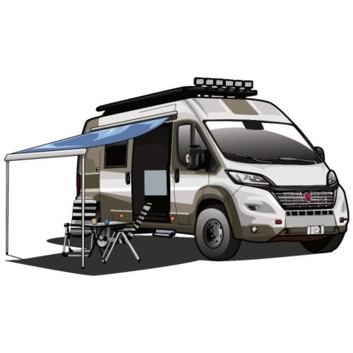 Campervan mit offener Seitentüre und Markise - Männer Premium T-Shirt
