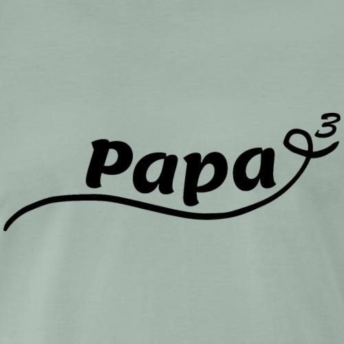 Papa hoch 3 - Männer Premium T-Shirt