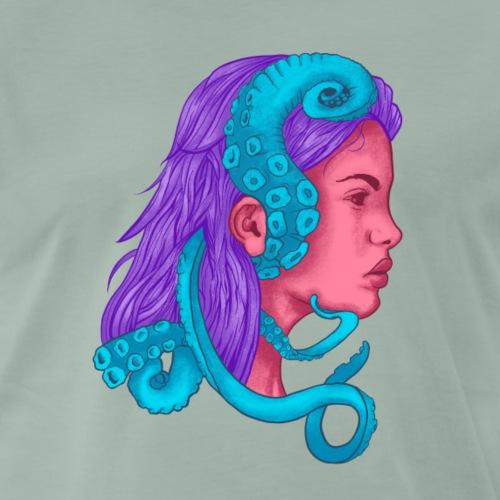 Mujer con Tentaculos - Camiseta premium hombre