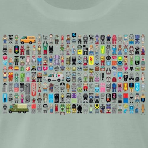 Society Pixel Art - Men's Premium T-Shirt