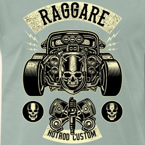 Raggare Hot Rod Custom Car Skull Dragster Vintage - Männer Premium T-Shirt