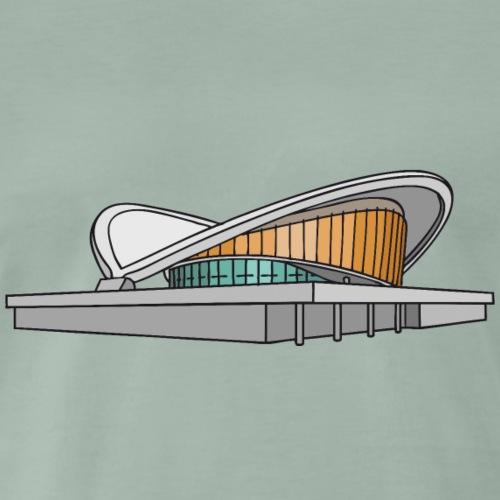 Il Palazzo dei Congressi di Berlin c - Maglietta Premium da uomo