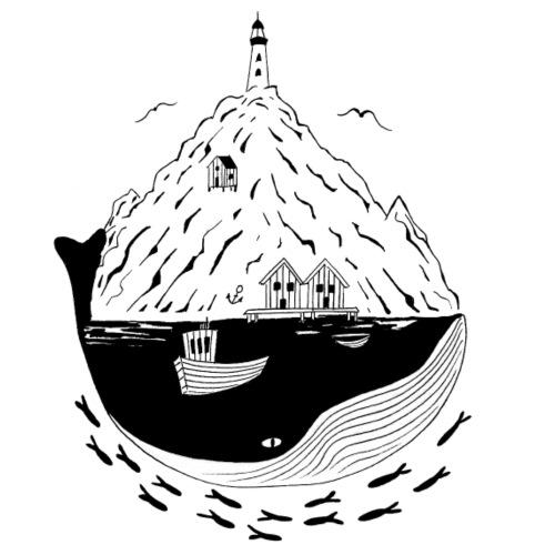 Fjord, Norwegen, Skandinavien, Geschenk - Männer Premium T-Shirt