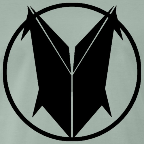 T-SHIRT CLEAN LOGO BLACK - Mannen Premium T-shirt