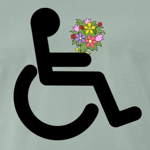 Wheelchairflowerskleur - Mannen Premium T-shirt