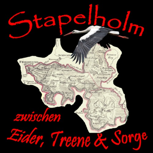 Stapelholm - Land zwischen 3 Flüssen - Männer Premium T-Shirt