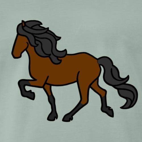 Islandpferd, Brauner - Männer Premium T-Shirt