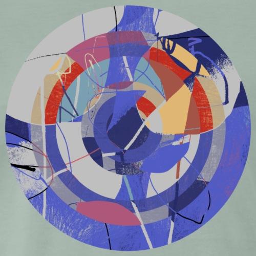 Circle design abstract colour 002 - Mannen Premium T-shirt