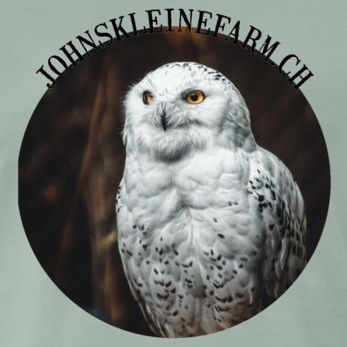 Schnee - Eule - Männer Premium T-Shirt