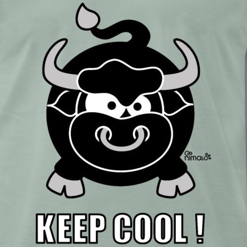 Taureau, Bull, Keep Cool, Zodiaque - T-shirt Premium Homme