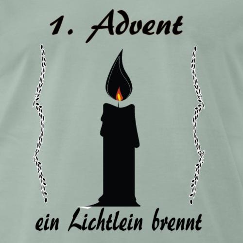 1 Advent Weihnachtsshirt winter design - Männer Premium T-Shirt