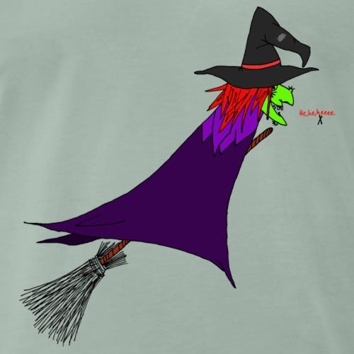 Hexe fliegt auf dem Besen - Männer Premium T-Shirt