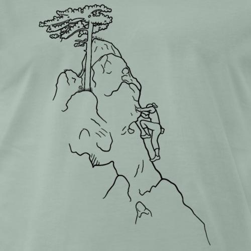 Kletter-Girl, schwarz, 1 - Männer Premium T-Shirt