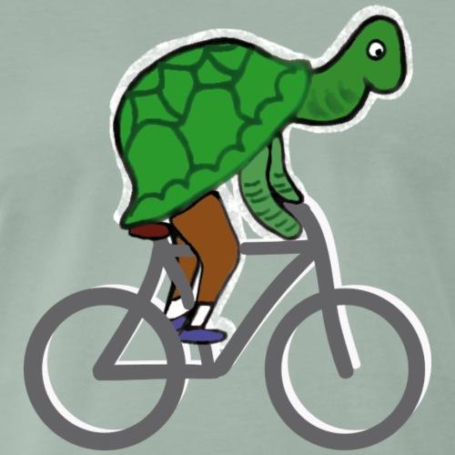 Schildkröte fährt Rad - Männer Premium T-Shirt