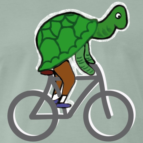 Schildkröte fährt Rad