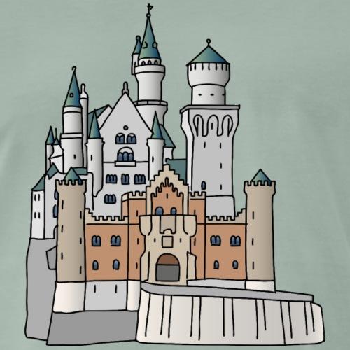 Castello di Neuschwanstein c - Maglietta Premium da uomo