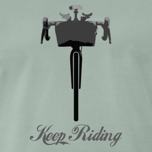 Bikepacking Keep Riding - T-shirt Premium Homme