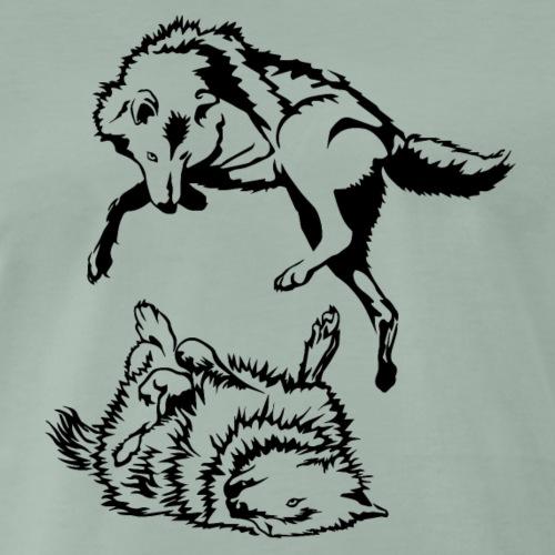 Loups - T-shirt Premium Homme
