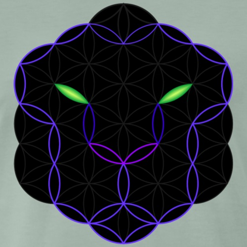 The Leopard Of Life - Sacred Animals, Face 04 - Men's Premium T-Shirt