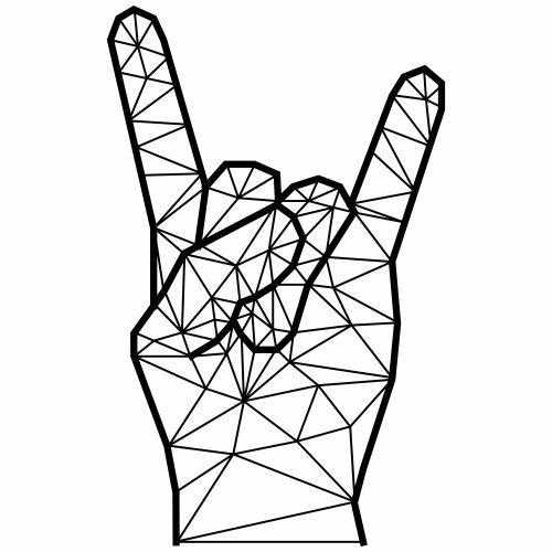 main rock'n'roll géométrique - T-shirt Premium Homme