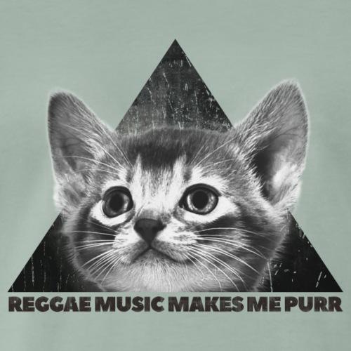 Reggae Music Makes Me Purr - Männer Premium T-Shirt