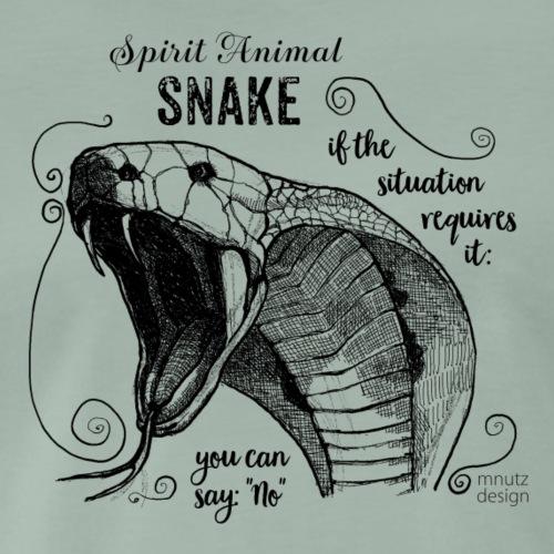 Spirit Animal Schlange schwarz - Männer Premium T-Shirt