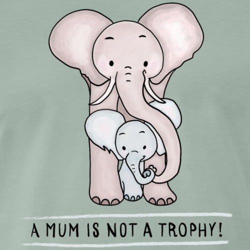 Elephant Baby with Mom - Men's Premium T-Shirt