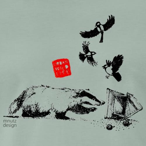 Urban Wildlife - Dachs - Männer Premium T-Shirt