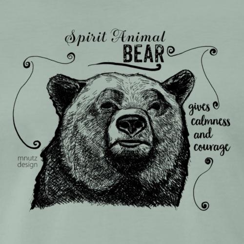 Spirit Animal Bär schwarz - Männer Premium T-Shirt