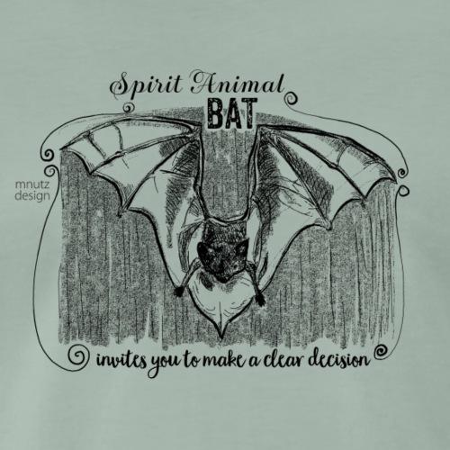 Spirit Animal Fledermaus schwarz - Männer Premium T-Shirt